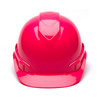 Box of 16 Pyramex Hi Vis Ridgeline Cap Style 4-Point Ratchet Hard Hats HP44170 Hi Vis Pink Front