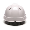 Box of 16 Pyramex Ridgeline Cap Style Vented 4-Point Ratchet Hard Hats HP44110V White