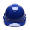 Box of 16 Pyramex Ridgeline Cap Style Vented 4-Point Ratchet Hard Hats HP44160V Blue