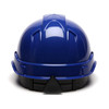 Box of 16 Pyramex Ridgeline Cap Style 6-Point Ratchet Hard Hats HP46160 Blue Back