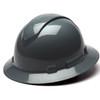 Box of 12 Pyramex Ridgeline Full Brim 4-Point Ratchet Hard Hats HP54113 Slate Gray