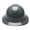 Box of 12 Pyramex Ridgeline Full Brim 4-Point Ratchet Hard Hats HP54113 Slate Gray Front