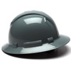 Box of 12 Pyramex Ridgeline Full Brim 4-Point Ratchet Hard Hats HP54113 Slate Gray Side Profile