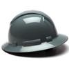 Box of 12 Pyramex Ridgeline Full Brim 4-Point Ratchet Hard Hats HP54113 Slate Gray Side Profile