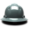 Box of 12 Pyramex Ridgeline Full Brim 4-Point Ratchet Hard Hats HP54113 Slate Gray Back