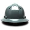Box of 12 Pyramex Ridgeline Full Brim 4-Point Ratchet Hard Hats HP54113 Slate Gray Back