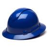 Box of 12 Pyramex Ridgeline Full Brim 6-Point Ratchet Hard Hats HP56160 Blue
