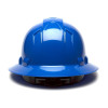 Box of 12 Pyramex Ridgeline Full Brim 6-Point Ratchet Hard Hats HP56160 Blue