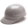 Box of 16 Pyramex Ridgeline 4-Point Glide Lock Bump Caps HP40012 Gray Front Angled