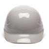 Box of 16 Pyramex Ridgeline 4-Point Glide Lock Bump Caps HP40012 Gray Front