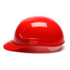 Box of 16 Pyramex Ridgeline 4-Point Glide Lock Bump Caps HP40020 Red Side Profile