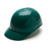 Box of 16 Pyramex Ridgeline 4-Point Glide Lock Bump Caps HP40035 Green Front Angled