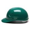 Box of 16 Pyramex Ridgeline 4-Point Glide Lock Bump Caps HP40035 Green Side Profile