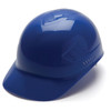 Box of 16 Pyramex Ridgeline 4-Point Glide Lock Bump Caps HP40060 Blue Front Angled