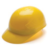 Box of 16 Pyramex Hi Vis Ridgeline 4-Point Glide Lock Bump Caps HP40030 Yellow Front Angled