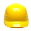 Box of 16 Pyramex Hi Vis Ridgeline 4-Point Glide Lock Bump Caps Yellow Front