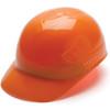 Box of 16 Pyramex Hi Vis Ridgeline 4-Point Glide Lock Bump Caps Hi-Vis Orange Front Angled