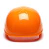 Box of 16 Pyramex Hi Vis Ridgeline 4-Point Glide Lock Bump Caps Hi-Vis Orange Back