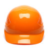 Box of 16 Pyramex Hi Vis Ridgeline 4-Point Glide Lock Bump Caps Hi-Vis Orange Front