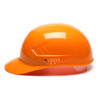 Box of 16 Pyramex Hi Vis Ridgeline 4-Point Glide Lock Bump Caps Hi-Vis Orange Side Profile