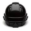 Box of 16 Pyramex Ridgeline Cap Style 4-Point Ratchet Hydro Dipped Hard Hats HP44117S Shiny Black Back