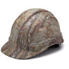 Box of 16 Pyramex Ridgeline Cap Style 4-Point Ratchet Hydro Dipped Hard Hats HP44119 Matte Camo Front Angled