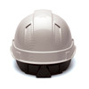 Box of 16 Pyramex Ridgeline Cap Style Vented 4-Point Ratchet Hydro Dipped Hard Hats HP441V-HDHP44116SV