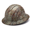 Box of 12 Pyramex Ridgeline Full Brim 4-Point Ratchet Hydro Dipped Hard Hats HP54119 Matte Camo