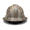 Box of 12 Pyramex Ridgeline Full Brim 4-Point Ratchet Hydro Dipped Hard Hats HP54119 Matte Camo Back
