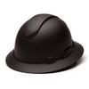 Box of 12 Pyramex Ridgeline Full Brim Vented 4-Point Ratchet Hydro Dipped Hard Hats HP54117V-HD