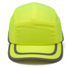 Box of 12 Pyramex Hi Vis Lime Baseball Bump Caps HP50031 Front