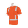 ERB Class 2 Hi Vis Orange T-Shirt with Segmented Reflective Tape 9006SEG-O Left Side