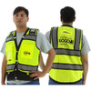 Majestic Class 2 Hi Vis Yellow Heavy Duty Surveyors Vest with Contrasting Trim 75-3237 with Back and Printing Area