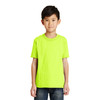 Port and Company Non-ANSI Hi Vis Safety Youth Core Blend T-Shirt PC55Y Safety Green