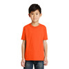 Port and Company Non-ANSI Hi Vis Safety Youth Core Blend T-Shirt PC55Y Safety Orange