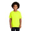 Gildan Non-ANSI Hi Vis Safety Youth Cotton Poly T-Shirt 2000B Safety Green