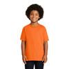 Gildan Non-ANSI Hi Vis Safety Youth Cotton Poly T-Shirt 2000B Safety Orange