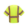 GSS Class 3 Hi Vis Lime Two Tone Reflective Safety Vest with 6 Pockets 2503 Back