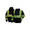 Pyramex Class 1 Enhanced Visibility Two-Tone Hooded Zipper Sweatshirt RSZH34 Front/Back