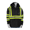 PIP Class 1 Enhanced Visibility Two-Tone 3-in-1 Rip-Stop Safety Jacket 331-1772-BK Jacket