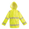 Occunomix FR Class 3 Hi Vis Yellow Rain Jacket LUX-TJRFR2 Front
