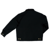 Tough Duck Premium Cotton Duck Quilted Lined Chore Jacket 2137 Black Back