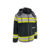 GSS Non-ANSI Enhanced Visibility Black ONYX QUARTZ Duck Sherpa Lined Jacket 8517 Right Side