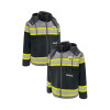 GSS Non-ANSI Enhanced Visibility Black ONYX QUARTZ Duck Sherpa Lined Jacket 8517 Profiles