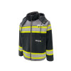 GSS Non-ANSI Enhanced Visibility Black ONYX QUARTZ Duck Sherpa Lined Jacket 8517 Left Side