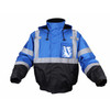GSS Non-ANSI Enhanced Visibility Blue Black Bottom Bomber Jacket 8013 Front Side