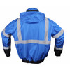 GSS Non-ANSI Enhanced Visibility Blue Black Bottom Bomber Jacket 8013 Back Side