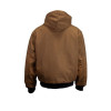 Union Line FR Brown Ultrasoft Duck Made in USA Hooded Jacket with Quilted Liner 30393-67 Back