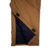 Union Line FR Brown Ultrasoft Duck Made in USA Bib Overall with Quilted Liner 15079-67 Zipper