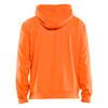 Blaklader Non-ANSI Hi Vis Hooded Sweatshirt 344925285300 Orange Back
